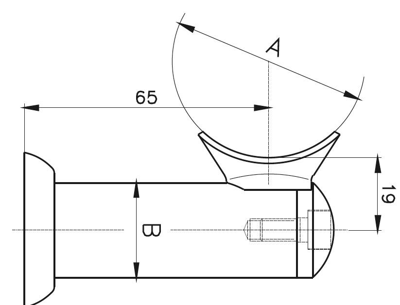 HR-900 Dikme Kolçağı Teknik Çizim