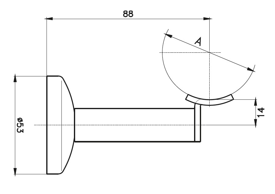 HRA-1000 Handrail Support Teknik Çizim
