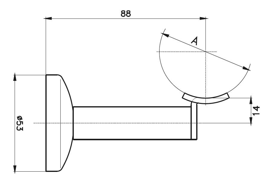 HRA-1000 Dikme Kolçağı Teknik Çizim