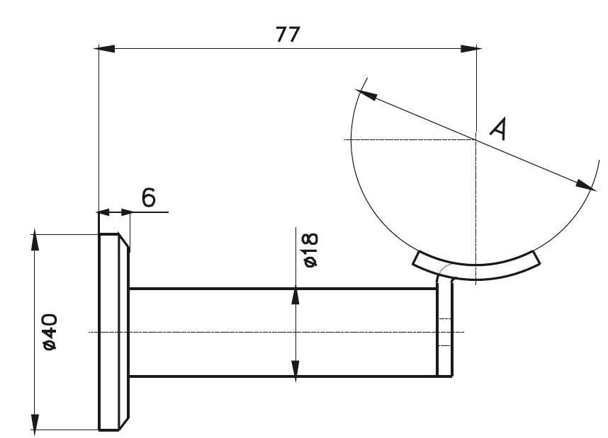 HRA-1100 Dikme Kolçağı Teknik Çizim