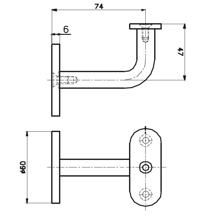 HR-1200 Dikme Kolçağı Teknik Çizim