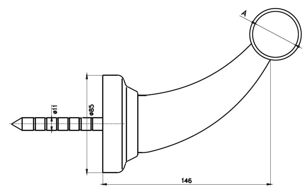 BTS - Saplamalı Bar Tekmeliği Teknik Çizim
