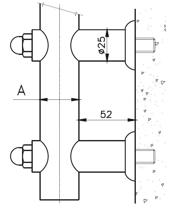 YA-200 Kurtağızlı Boru Yan Ankaraj Teknik Çizim