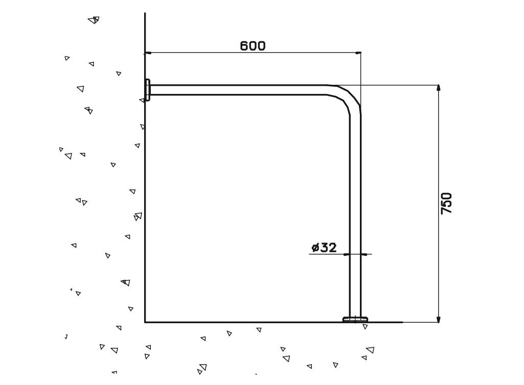 Engelli Tuvalet Tutamağı Sabit L1 Teknik Çizim