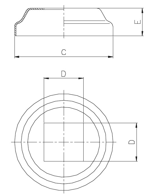 BPR - Rozet ( Profile Göre ) Teknik Çizim