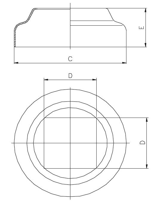PR - Rozet ( Profile Göre ) Teknik Çizim