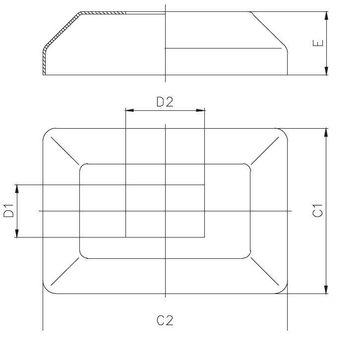 DKPR - Rectangular Base Cover Teknik Çizim