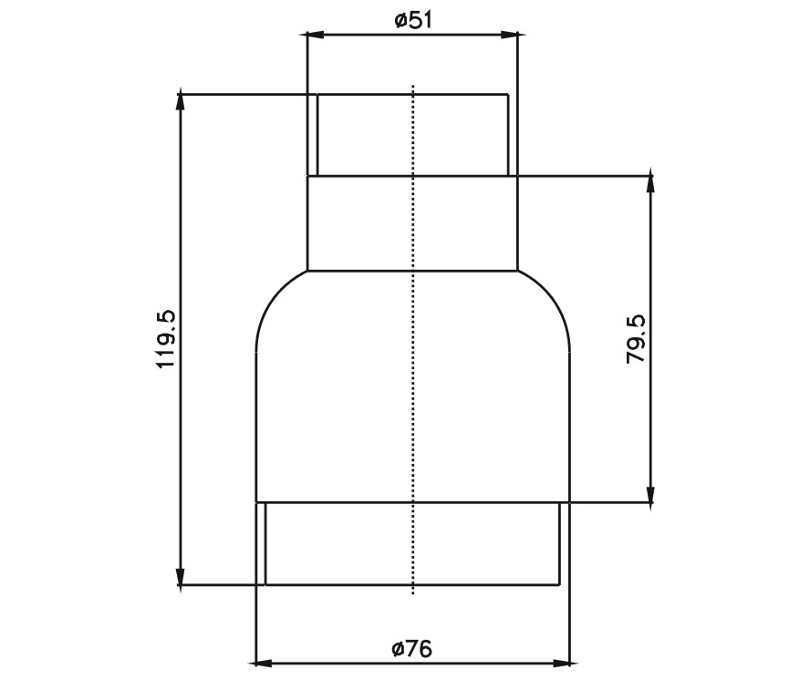 Rediksiyon-76x51 Teknik Çizim