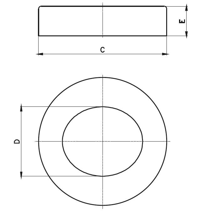 ADPR - Açılı Rozet Teknik Çizim