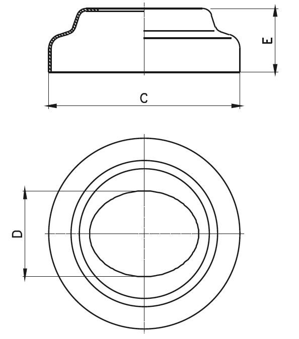 APR - Açılı Rozet Teknik Çizim
