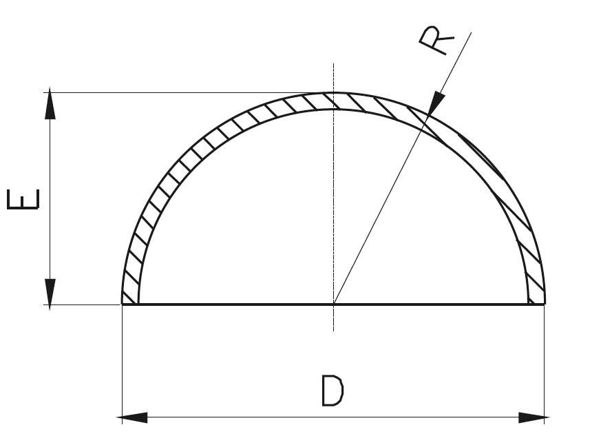 KK - Kaynaklı Küre Kapak Teknik Çizim