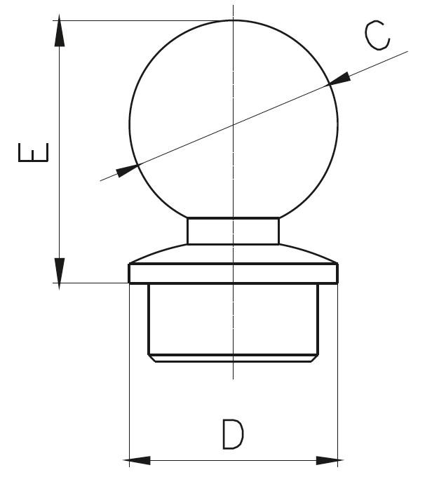 KGKD - Solid Sphere End Cap Teknik Çizim