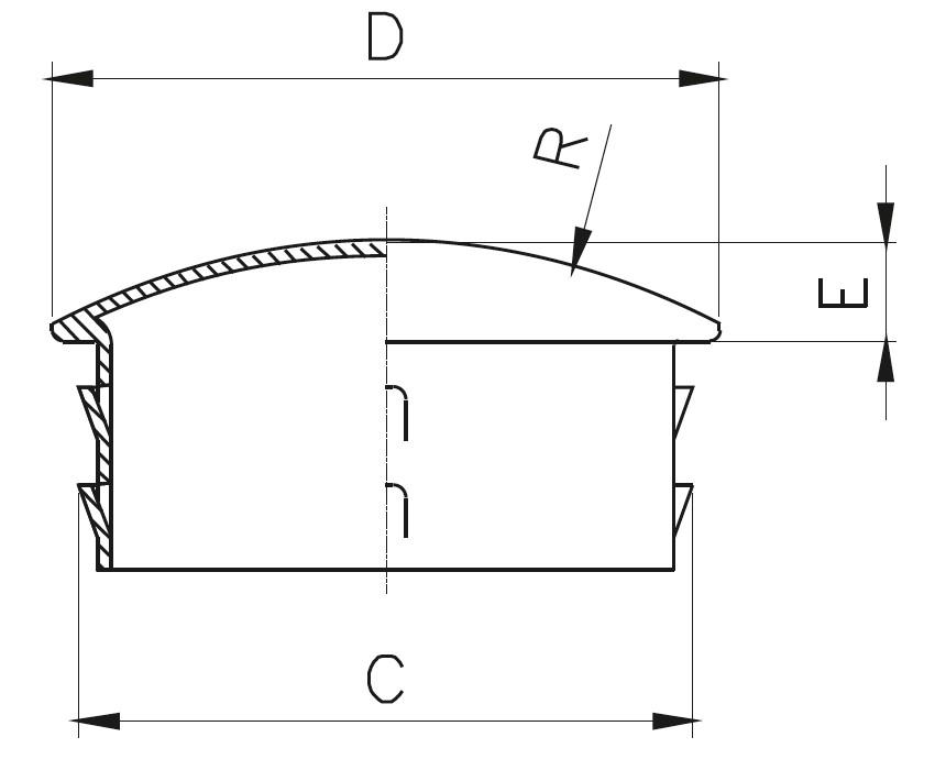 TK - Tırnaklı İçe Geçme Kapak Teknik Çizim