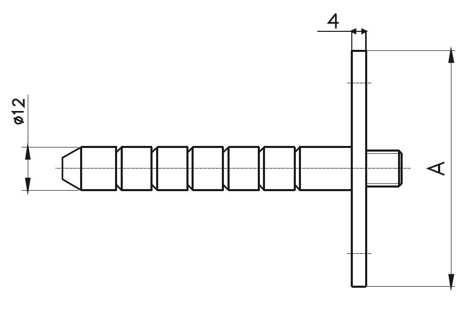 ZBA-100 - Zemin Bağlantı Ankarajı Teknik Çizim