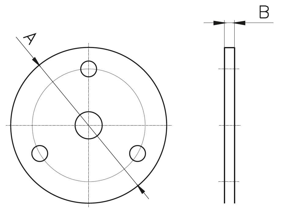 F - Flanş Teknik Çizim
