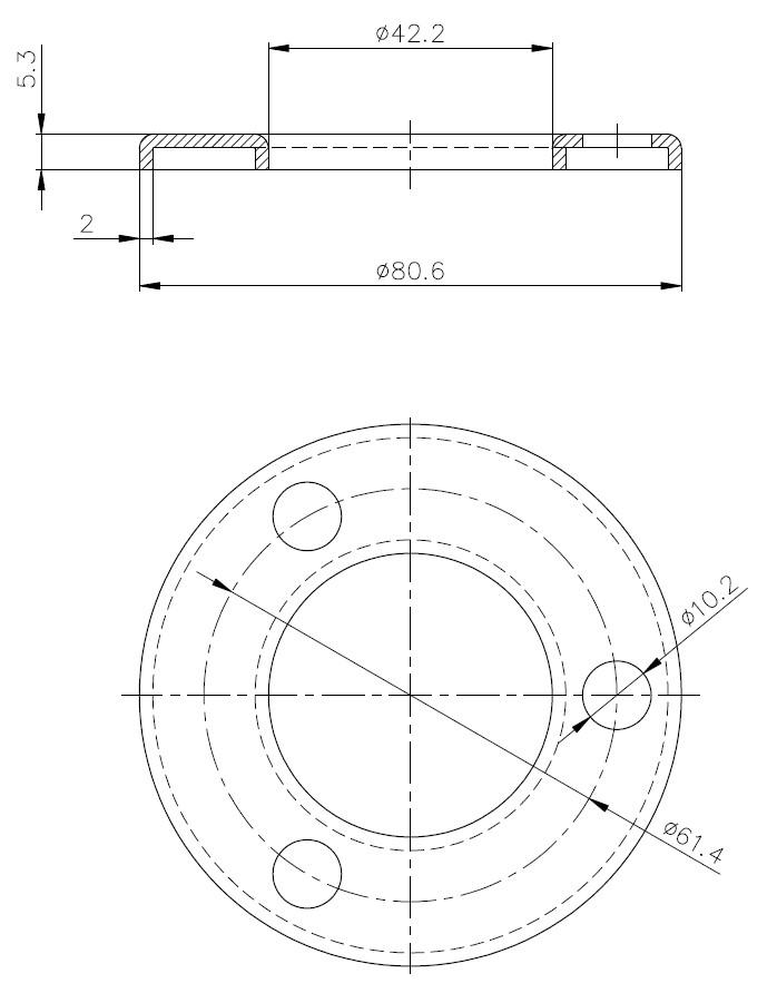 BF - Bükümlü Flanş Teknik Çizim