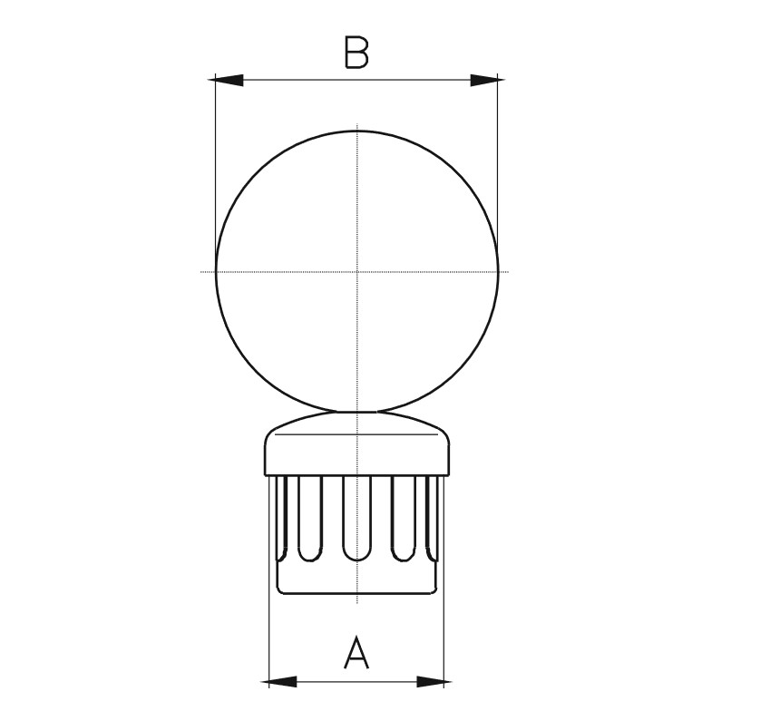 DB-100 / Balustrade Ball Teknik Çizim