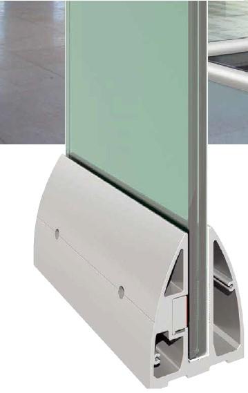 S40 Cam Kanalı Korkuluk Sistemi Teknik Çizim