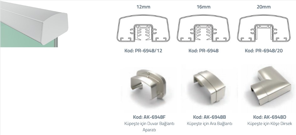 PR-6948 On-Glass Profile Teknik Çizim