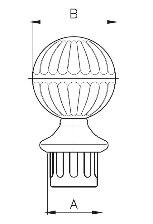 DDB / Decorative Balustrade Ball Teknik Çizim