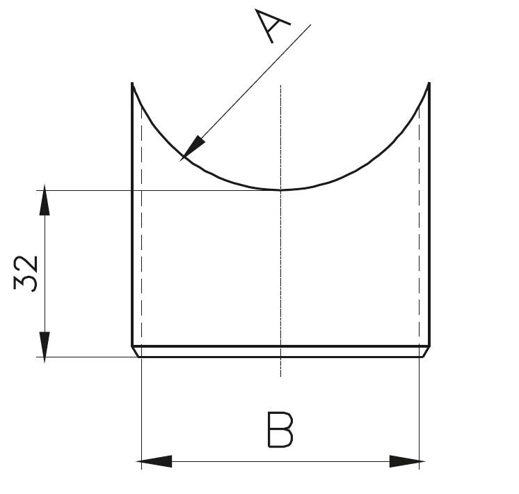 DBB-01 Düz Baba Bağlantısı Teknik Çizim