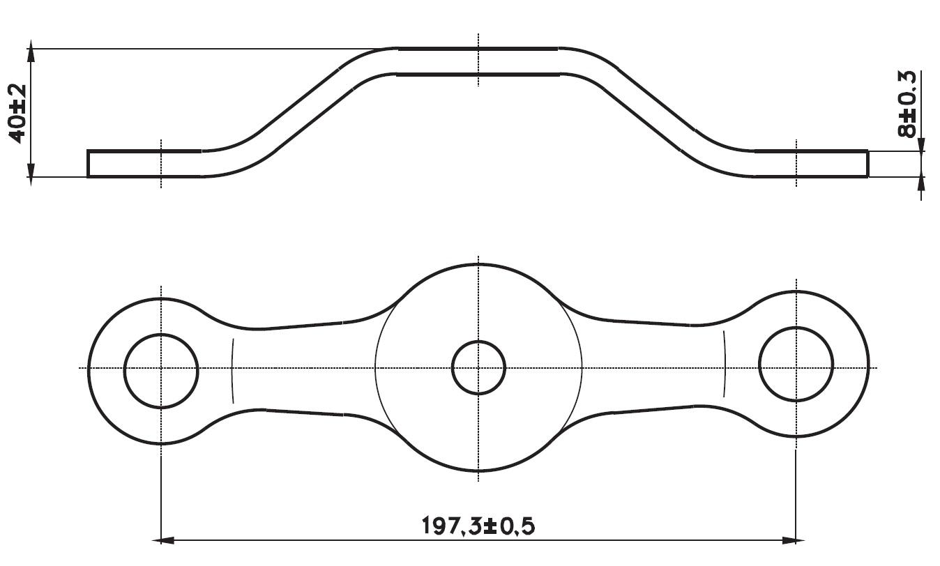 A-197 SPT-2 / A Tipi Spider 2'li Düz Teknik Çizim