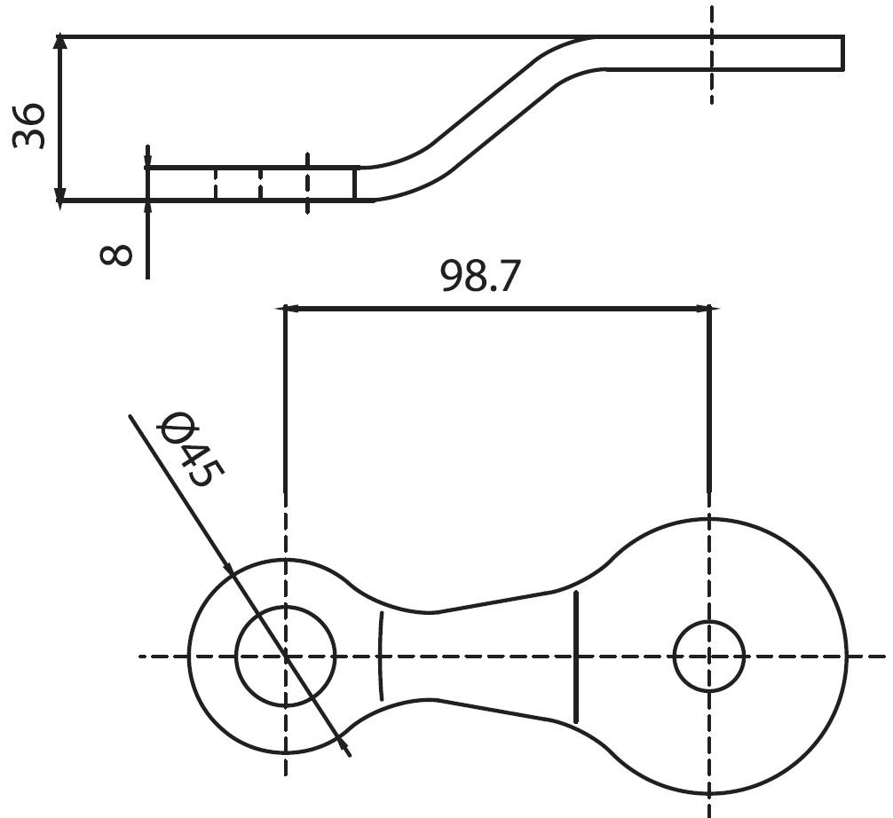 B-139,5 SPT-U1 / B Tipi Spider 1'li Uzun Teknik Çizim