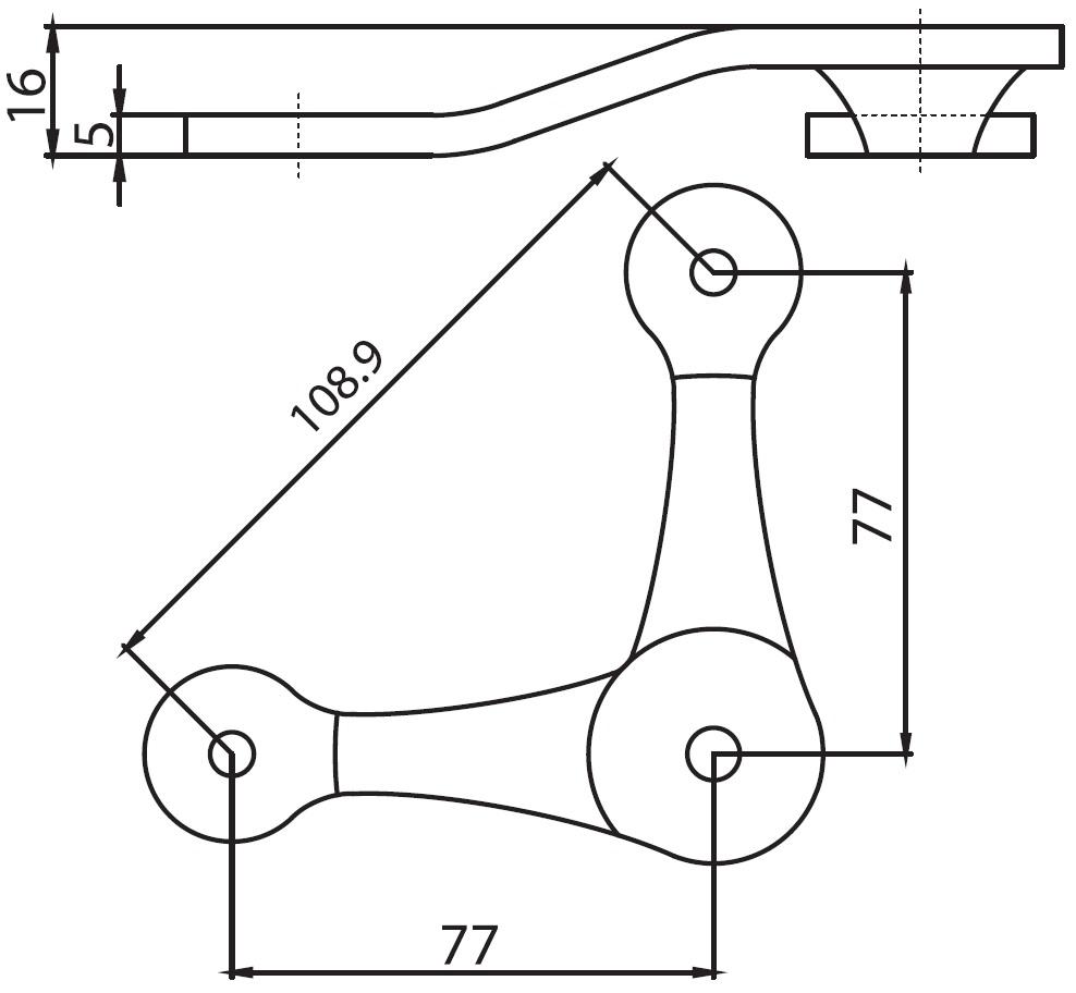 C-109 SPT-V / C Tipi Spider 2'li V Teknik Çizim