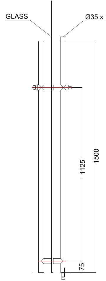 KKK-01 Kilitli Kapı Kolu Teknik Çizim