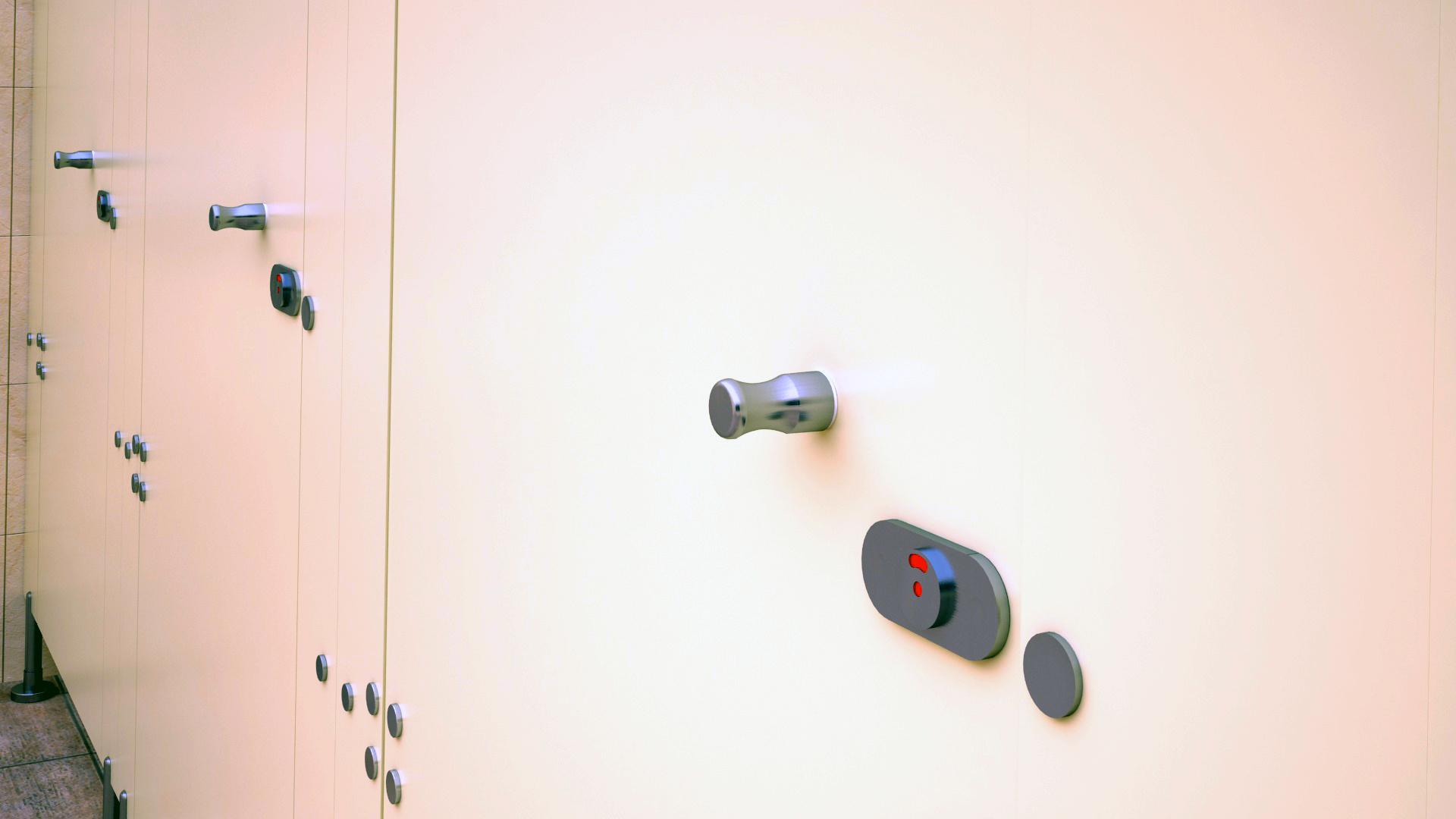 WC Kapı Kilidi 46600 Teknik Çizim