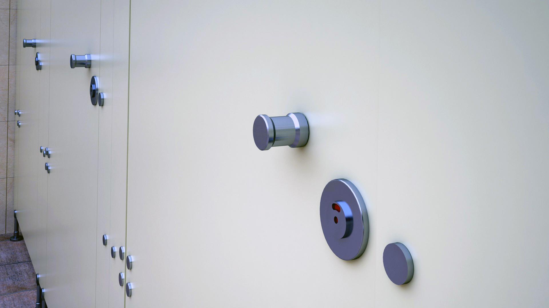 WC Kapı Kilidi 46650 Teknik Çizim