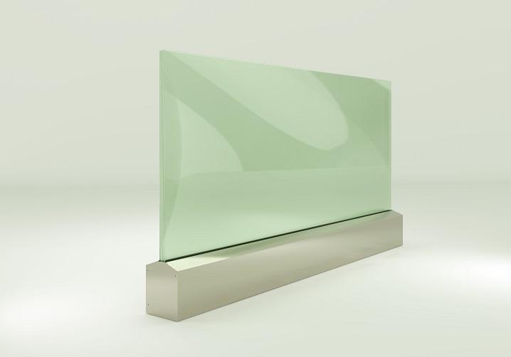 AR 90- 50111 On Floor Glass Supporting System Teknik Çizim