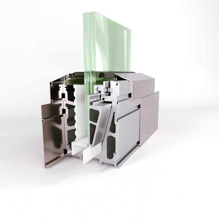 AR 100 On Floor Glass Supporting System Teknik Çizim